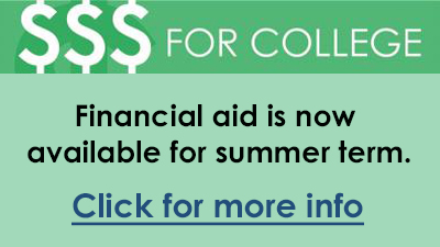 financial aid for summer term now available